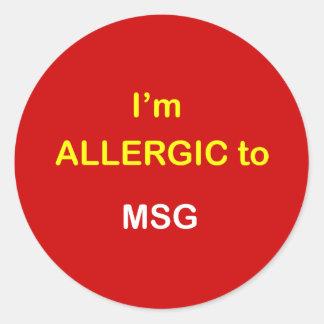 L6 - I m Allergic - MSG Sticker