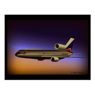 L-1011 Tristar Dusk flight Postcard
