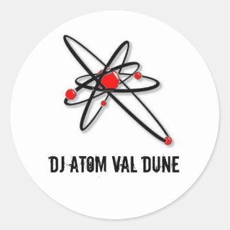 l_1696749d77044b92888ad447f8b0e700, dj atom val... round sticker