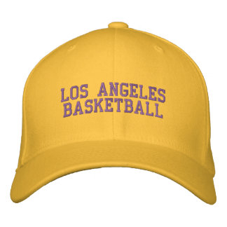 L.A.  BASKETBALL EMBROIDERED BASEBALL CAP