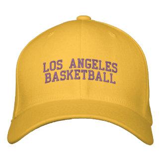 L.A.  BASKETBALL EMBROIDERED BASEBALL CAP