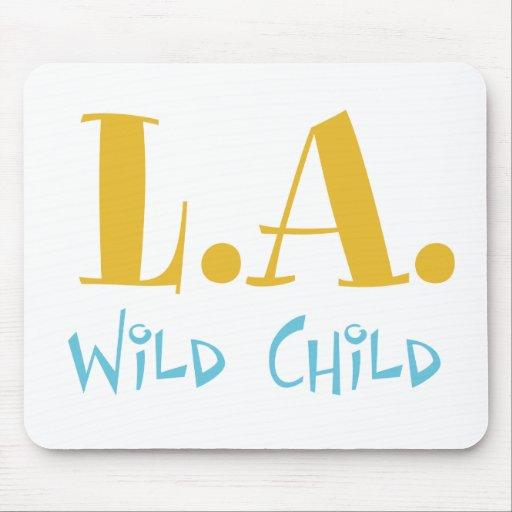 L A Wild Child Mousepads