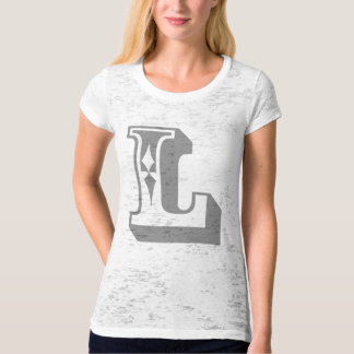 """L"" Alphabet Letter Word Text Tee"