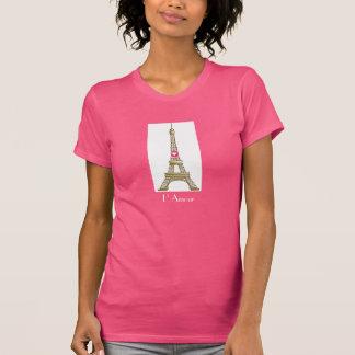 L' Amour Eiffel Tower T Shirt