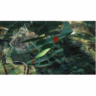 L'avion-vert(Full-HD) Standing Photo Sculpture