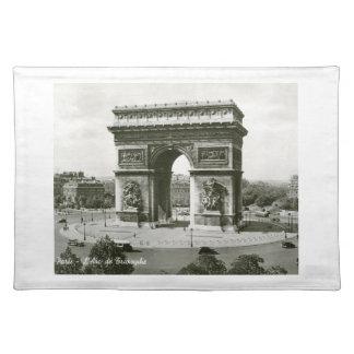 L Arc de Triomphe Paris France Vintage Placemats