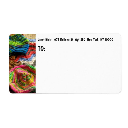 L Artisanware Knit Shipping Label