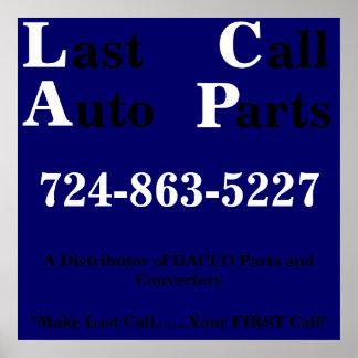 L ast all uto arts C A P 724-863-5227 Poster