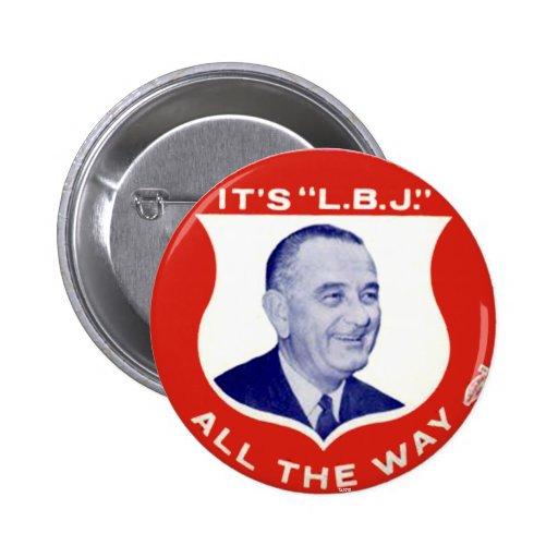 L.B.J. - Button