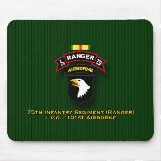 L Co, 75th Infantry - Ranger - 101st Abn - Vietnam Mouse Mat