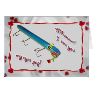 L Cooper Vintage Lure Goo-Goo Eyes Eel Valentine Greeting Card