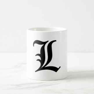"""L"" death note mug"
