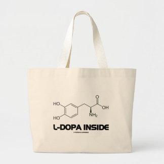 L-Dopa Inside (Levodopa Chemical Molecule) Jumbo Tote Bag