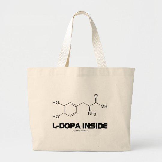 L-Dopa Inside (Levodopa Chemical Molecule) Large Tote Bag