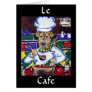 L e Chef Airedale Terrier Greeting Card