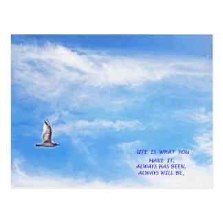 L I F E postcard