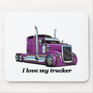 l iove my trucker mouse pad