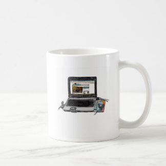 L is for Laptop Basic White Mug
