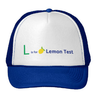 L is for Lemon Test Trucker Hat