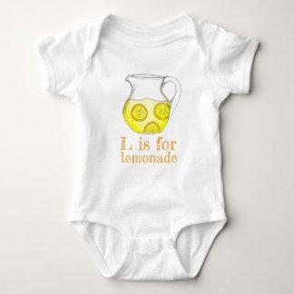 L is for Lemonade Lemon Ade Yellow Citrus Fruit Baby Bodysuit