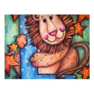 L is for Lion Postcard