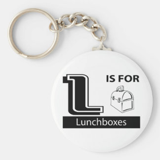 L Is For Lunchboxes Basic Round Button Key Ring