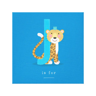 L is for... stretched canvas print