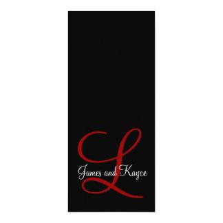 L, James and Kayce 10 Cm X 24 Cm Invitation Card
