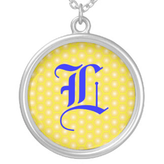 L LETTER ON HONEYCOMB PERSONALIZED NECKLACE