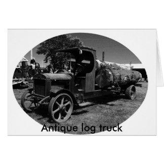 l log truck1, Antique log truck Greeting Card