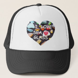 l LOVE SEA GLASS Trucker Hat