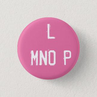 'L MNOP' Alphabet Collectible (#12) 3 Cm Round Badge