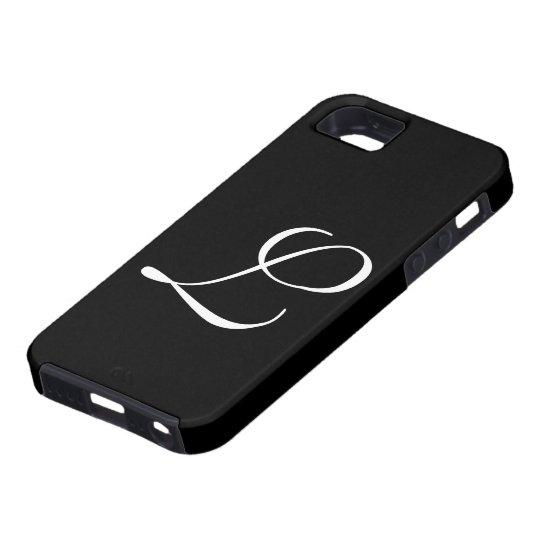 L Monogram Black IPhone 5 Case
