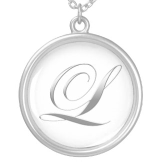 L Monogram Pendant Necklace