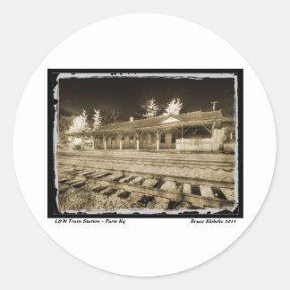 L&N Passenger Depot Round Sticker