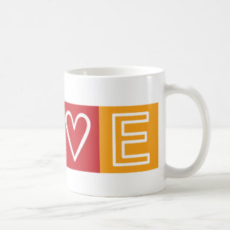 L-O-V-E -  Heart and Peace Sign Coffee Mug