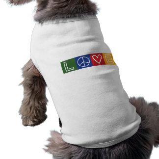L-O-V-E - Heart and Peace Sign Dog Clothes