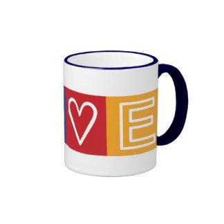 L-O-V-E -  Heart and Peace Sign Mug