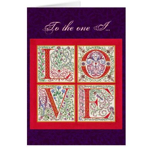 L-O-V-E Valentine Card