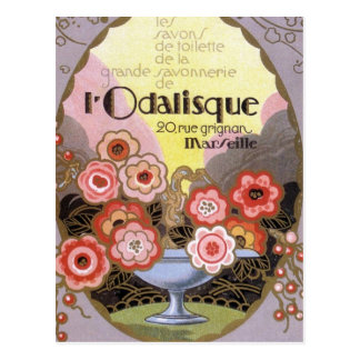 l Odalisque Perfume Label Postcard
