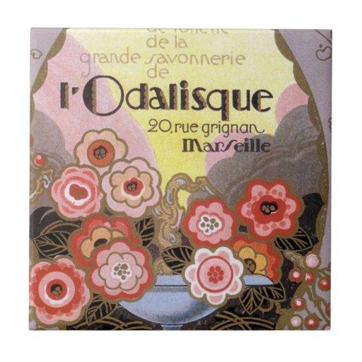 l Odalisque Perfume Label Tiles