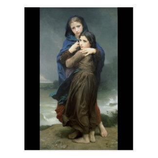 L Orage The Storm William-Adolphe Bouguereau Postcard