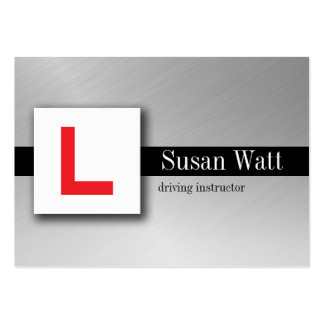 L Plate black Driving Instructor Business Card