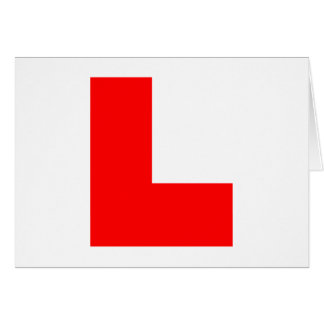 L-Plate Learner Driver / Bachelorette Hen Night Card