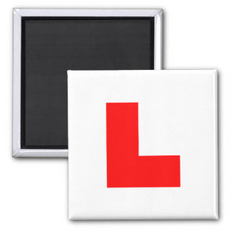 L-Plate Learner Driver / Bachelorette Hen Night Square Magnet