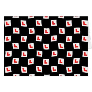 L-plate learner driver wallpaper black background card