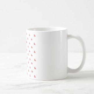 L-plate learner driver wallpaper transparent backg basic white mug