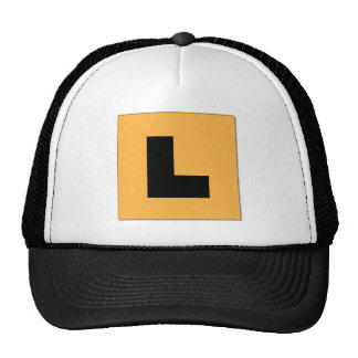 L Plates (black/yellow) Cap