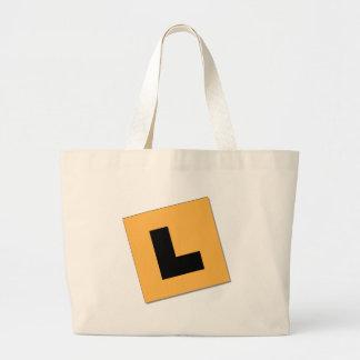 L Plates (black/yellow) Large Tote Bag