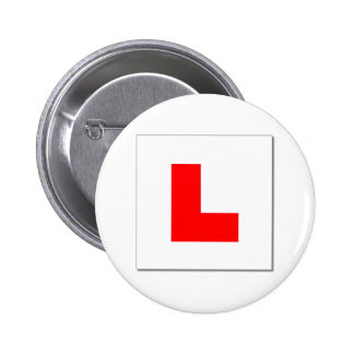 L Plates (red/white) Pin